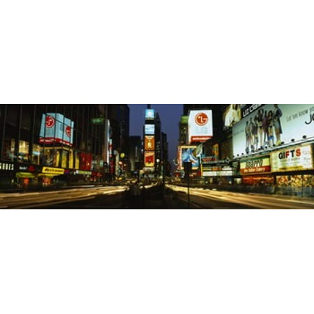 Shopping malls in a city Times Square Manhattan New York City New York State USA Canvas Art - Panoramic Images (18 x (Malls In New York City Times Square)