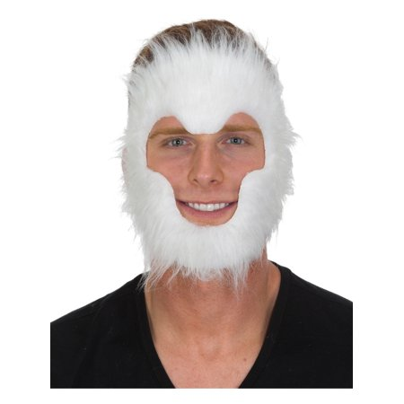 Adult's Furry White Mythical Legendary Animal Fur Mask Costume Accessory - Furry Masks