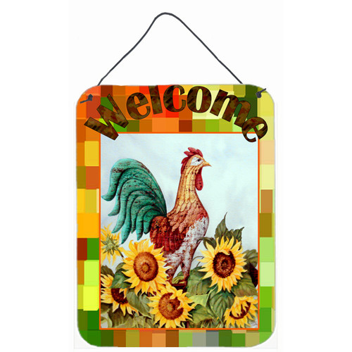 Caroline's Treasures Welcome Rooster by Jamie Carter Painting Print Plaque