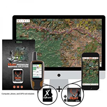 onXmaps HUNT Michigan Chip For GPS Public/Private Land Ownership 24k Topo  Maps for Garmin GPS Unit (microSD/SD Card) + Premium Membership For