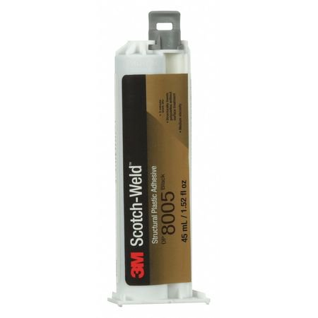 3M DP8005 Epoxy Adhesive, Dual-Cartridge, 1.52 oz., Black, 3 - Premium Black Epoxy Finish