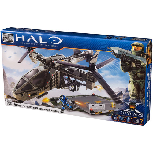 Mega Bloks Halo UNSC Falcon with Landing Pad Playset by Mega Brands