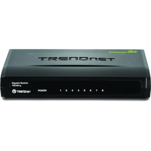 TRENDnet TEG S81g 8-Port Gigabit GREENnet Switch - switch - 8 ports
