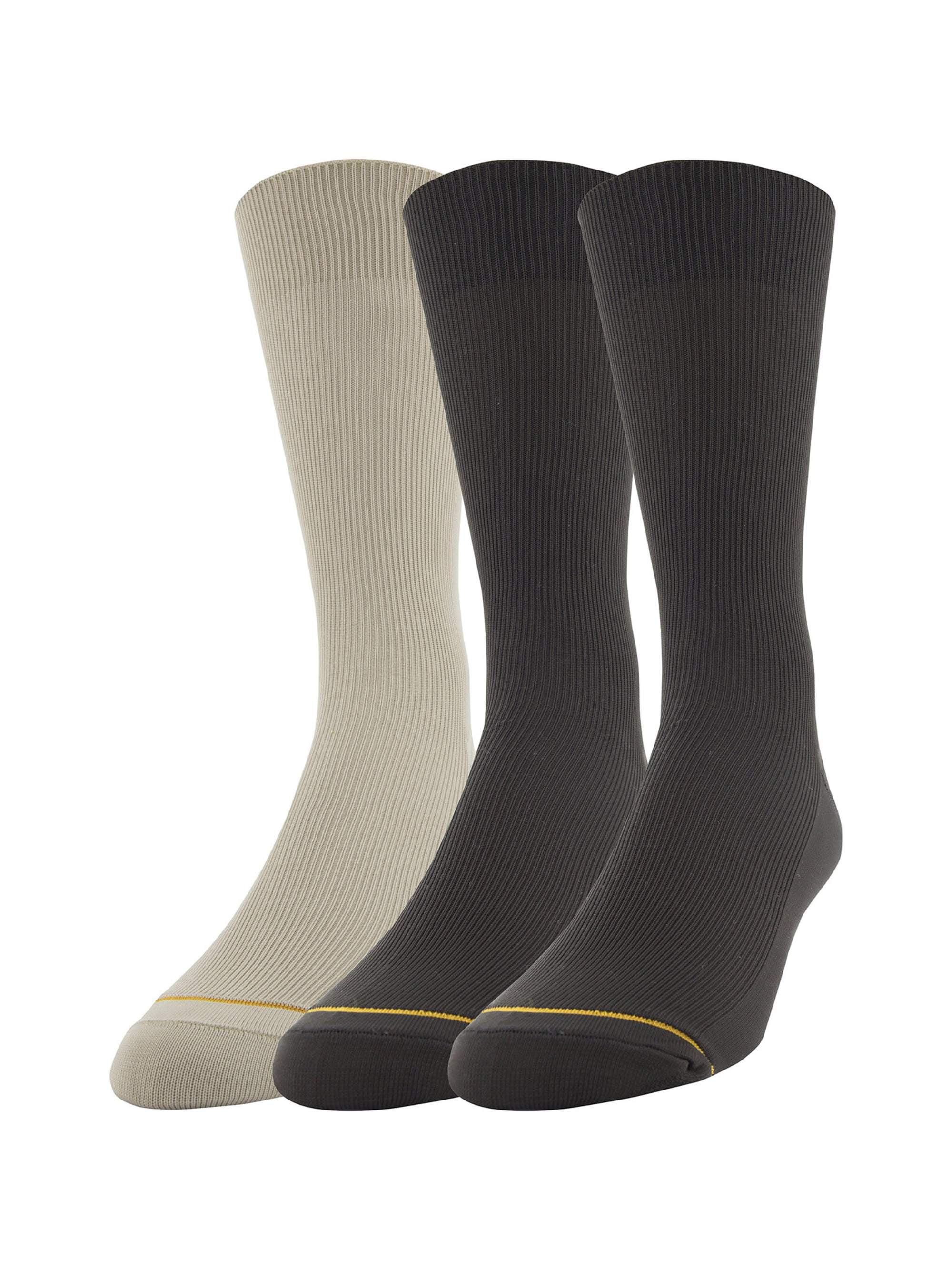 Men's Nylon Rib Dress Socks, 3-Pack