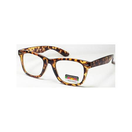 Multi Focus 3 in 1 Progressive Reading Glasses Square Tortoise (Tortoise With Glasses)