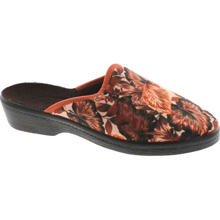 Sc Home Collection Womens 169 Closed Toe Low Wedge House Slippers Made In Europe