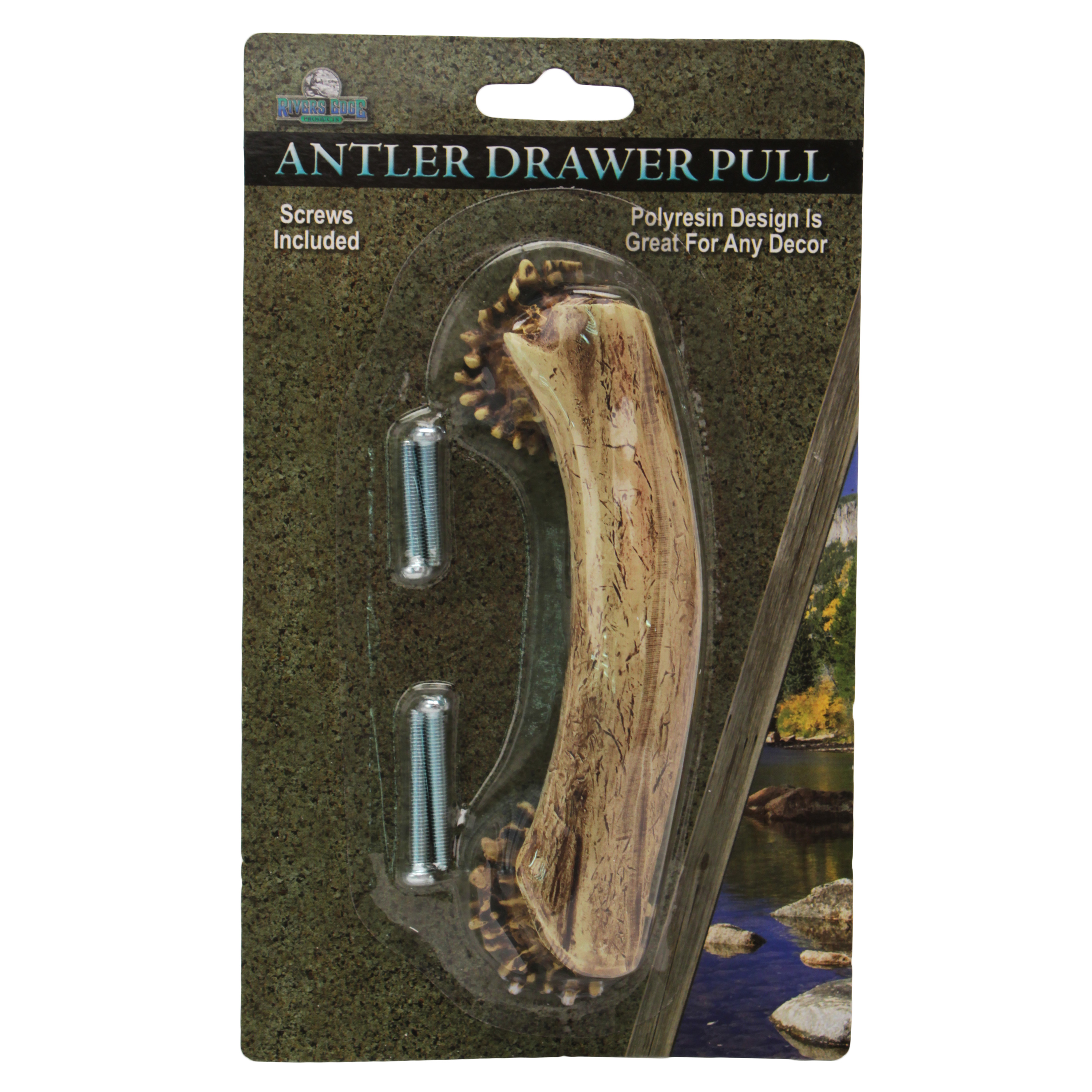 """Rivers Edge Products Drawer Handle/Knobs 4"""" Antler"""