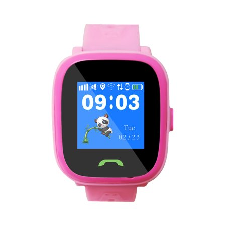 HW8F Children Smart Phone Watch Waterproof WiFi /GPS Locator Watch SOS Call Position Tracker Child Safe Anti-Lost