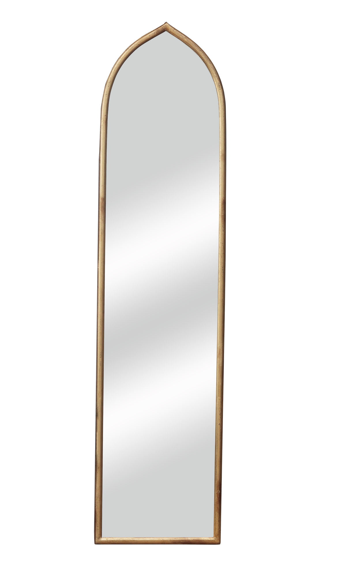 Vintage Full Length Wall Mirror With Arched Metal Frame Simple Full Body Mirror Dressing Mirror Make Up Mirror For Bathroom Bedroom Living Room Dining Room Entry Antique Gold 12 1 4 X 50 Inch