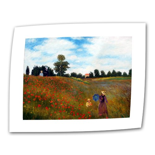 ArtWall ''Red Poppies at Argenteuil'' by Claude Monet Print of Painting on Canvas