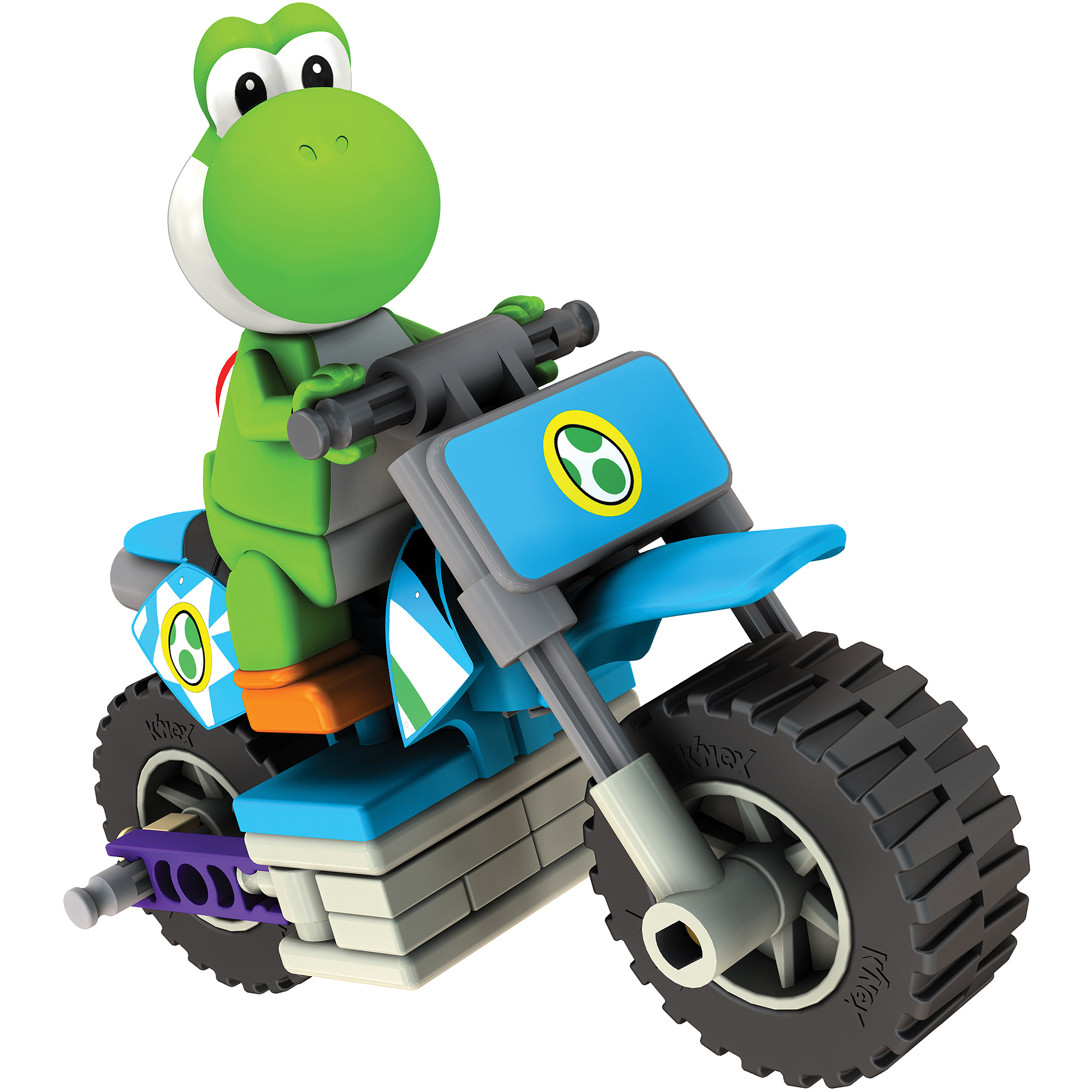 K'NEX Mario Kart Wii Building Set: Yoshi with Standard Bike