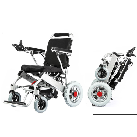 Fold and Travel Automatic Power Wheelchair, Foldable Electric Wheelchair, Portable Medical Mobility Wheel chair, Heavy Duty - (Best Electric Wheelchair Reviews Uk)