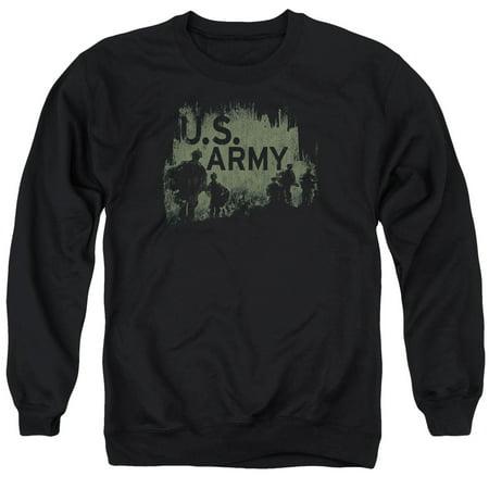 - Army Soilders Shadows Army Strong Vintage Style Adult Crewneck Sweatshirt