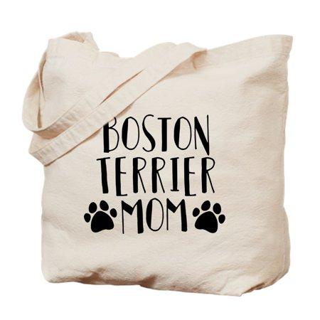 Canvas Large Boston Bag - CafePress - Boston Terrier Mom - Natural Canvas Tote Bag, Cloth Shopping Bag