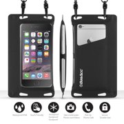 """BasAcc IPX8 certified Waterproof Pouch Dry Bag Full Accessibility Carrying Case (Size: 6.5"""" x 3.5"""") for Smartphone"""