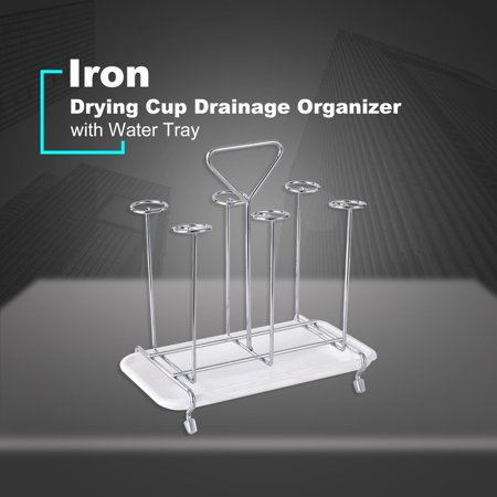 Glass Cup Water Storage Shelf Drying Cup Drainage Organizer Kitchen Stand - image 6 of 10