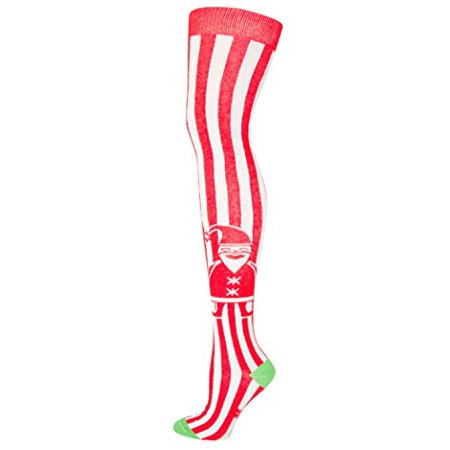 783b7eda1 Gumball Poodle - Santa Loves Stripes Over The Knee Socks in Red and White -  Walmart.com
