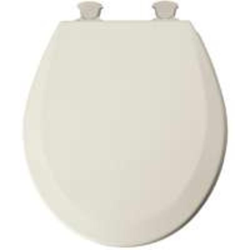Mayfair 46Ec 346 Molded Wood Toilet Seat With Lift-Off Hinges, Round, Biscuit