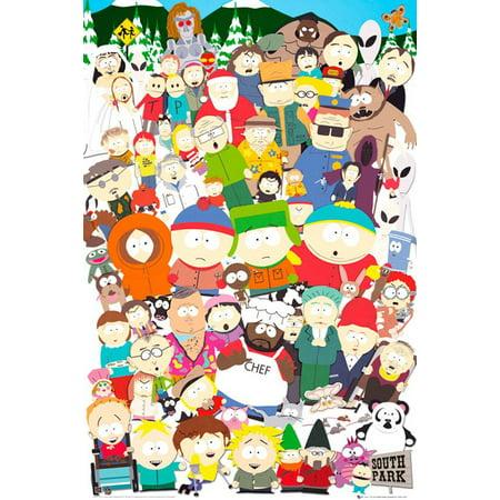 Poster - Studio B - South Park - Cast 36x24