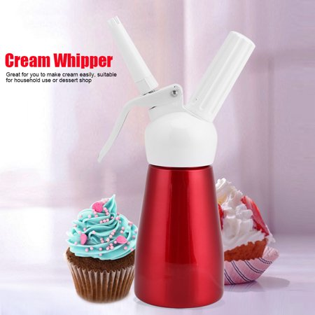 YOSOO 250mL Aluminum Cream Dispenser Cream Whipper Whipped Dessert Whipper Foam Maker Cream Butter Dispenser Red