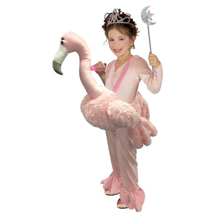 Ride On Flamingo Costume For Kids - Size ONE - Costume Flamingo