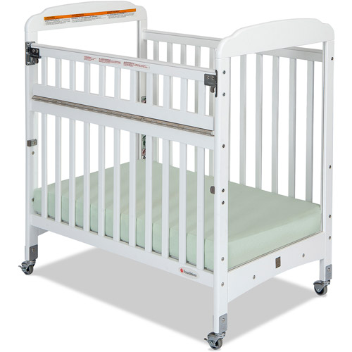 Foundations Serenity SafeReach Compact Clearview Fixed-Side Crib, White