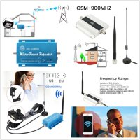 GSM 900MHZ Mobile Phone Signal Repeater Booster 2G 3G 4G Cellular Amplifier US/ EU/ UK Plug