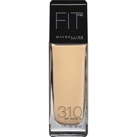 Maybelline; Fit Me; Dewy + Smooth Foundation, 310 Sun Beige, Spf 18,