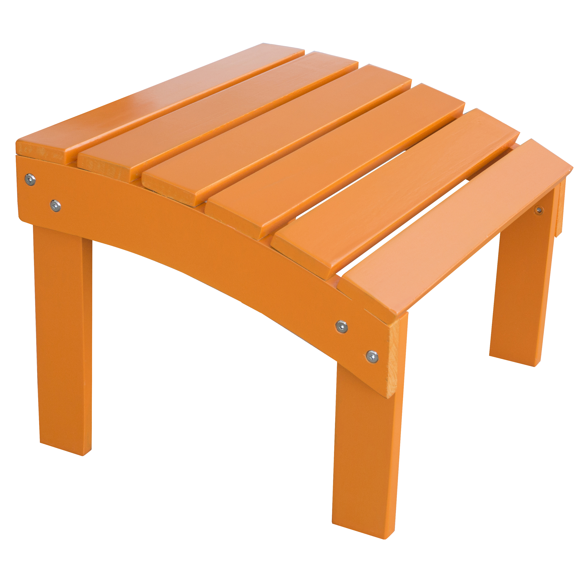 AmeriHome Solid Wood Adirondack Footrest Ottoman with Painted Finish Tangerine by Buffalo Corp