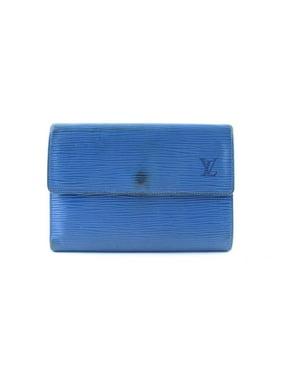 7e2095612fb2 Product Image Blue Epi Porte Tresor Etui Trifold Wallet 13LR0621. Louis  Vuitton