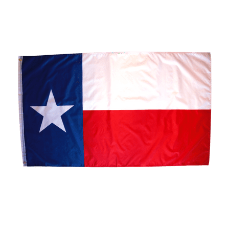 3x5 Foot Texas Flag Double Stitched Tx Flag with Brass Grommets | 3 by 5 Foot Premium Indoor Outdoor Polyester Banner - Texas Falg