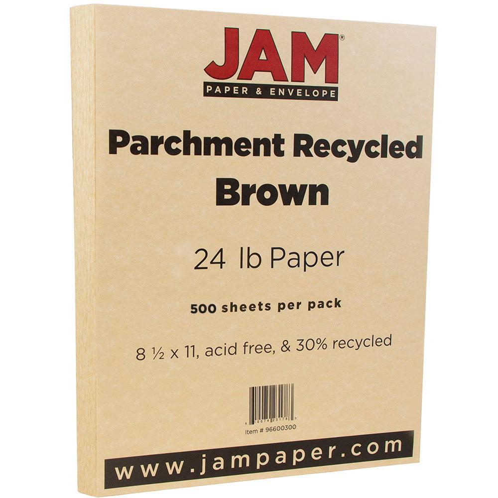 JAM Paper Parchment Cardstock, 8.5 x 11, 65 lb Antique Gold, 250 Sheets/Pack