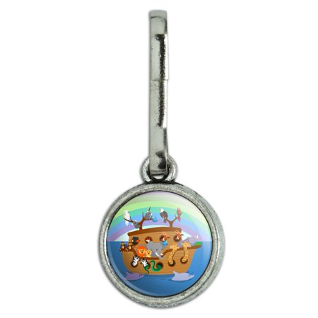 Noah's Ark with Animals Antiqued Charm Clothes Purse Suitcase Backpack Zipper Pull Aid