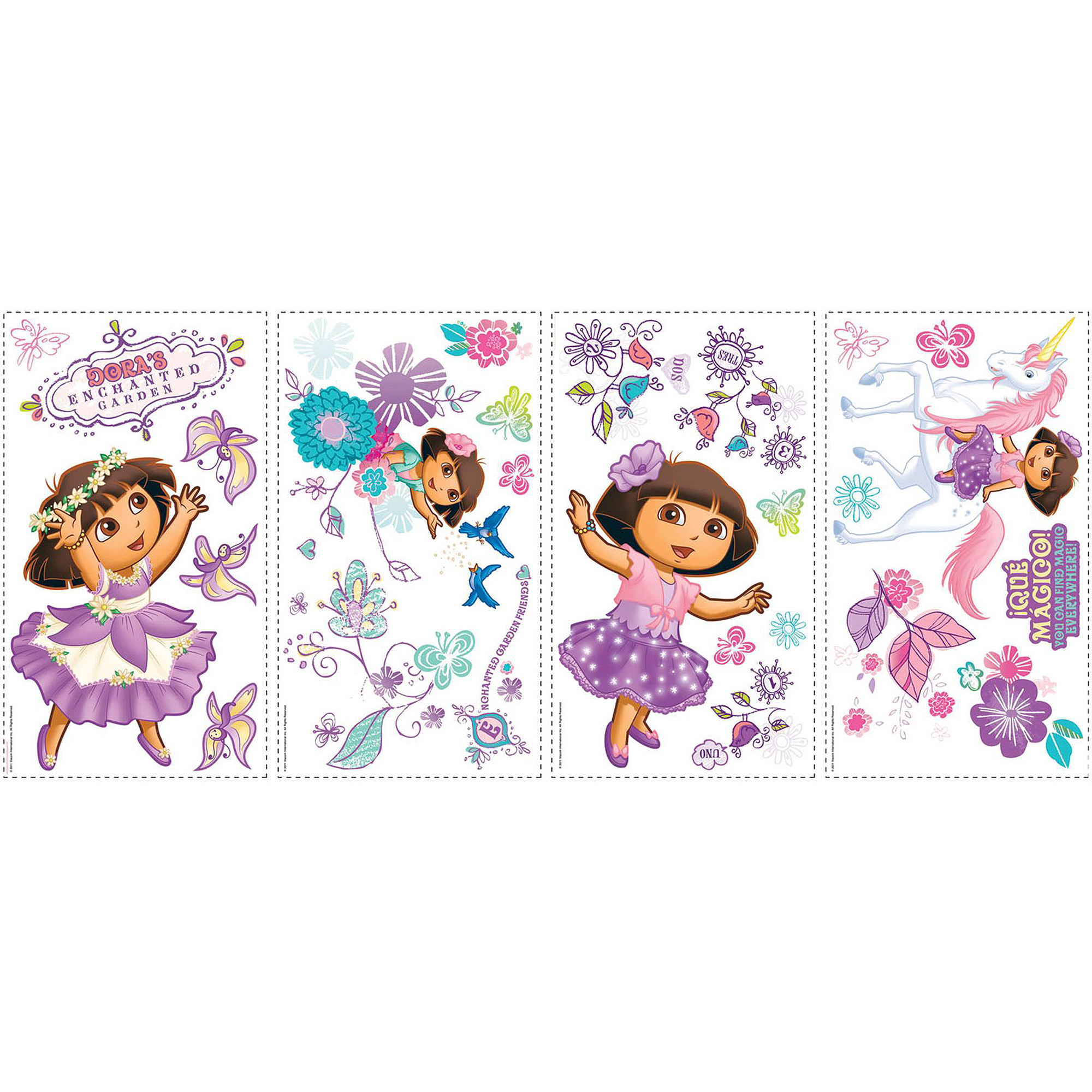 RoomMates Dora's Enchanted Forest Peel & Stick Wall Decals