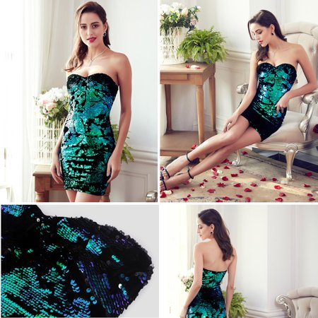 Ever-Pretty Women's Sexy Sparkling Night Club Dress Mini Sequin Bodycon Party Dresses for Women 05823