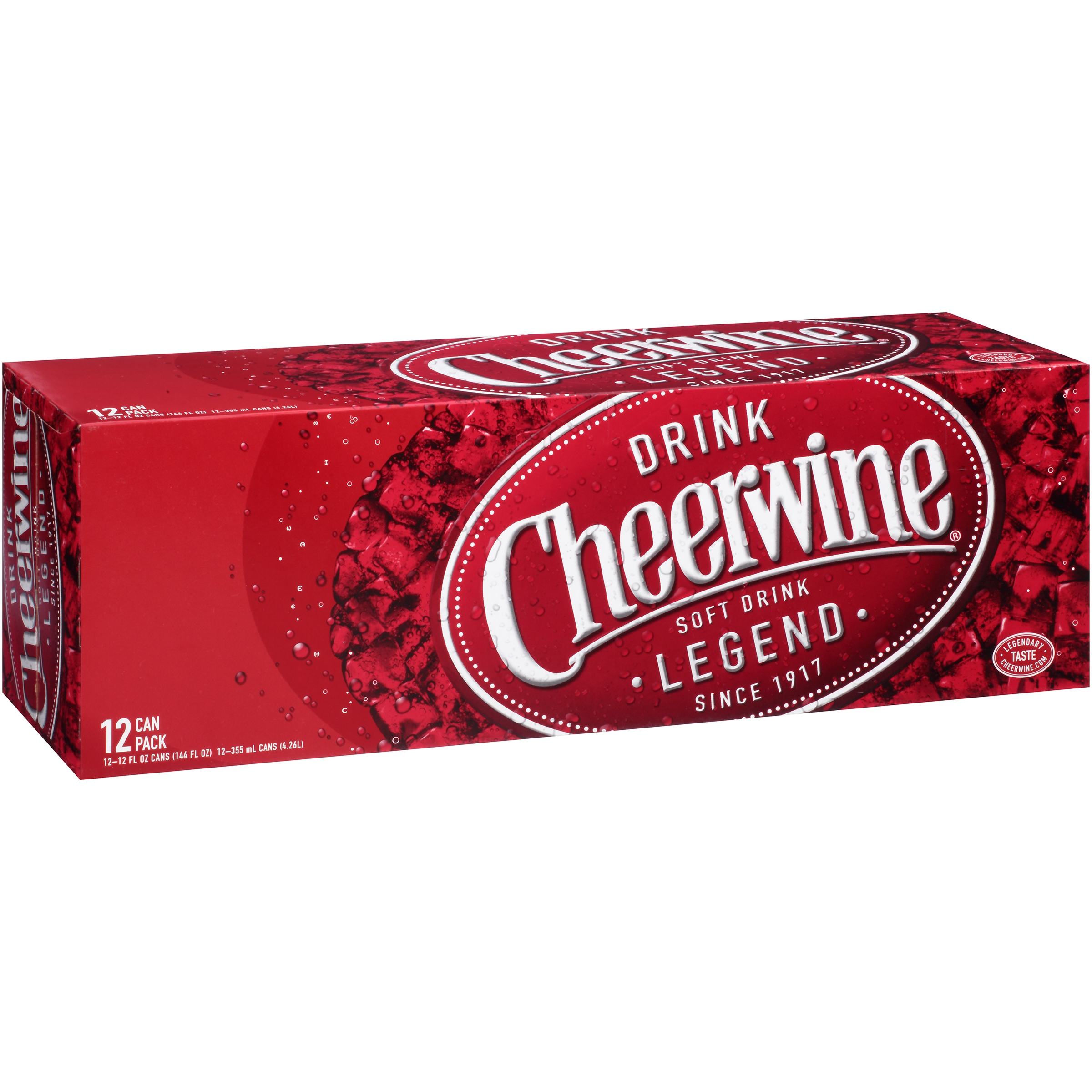 Cheerwine 12-pack cans