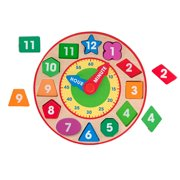 Melissa & Doug Shape Sorting Clock, Multicolored
