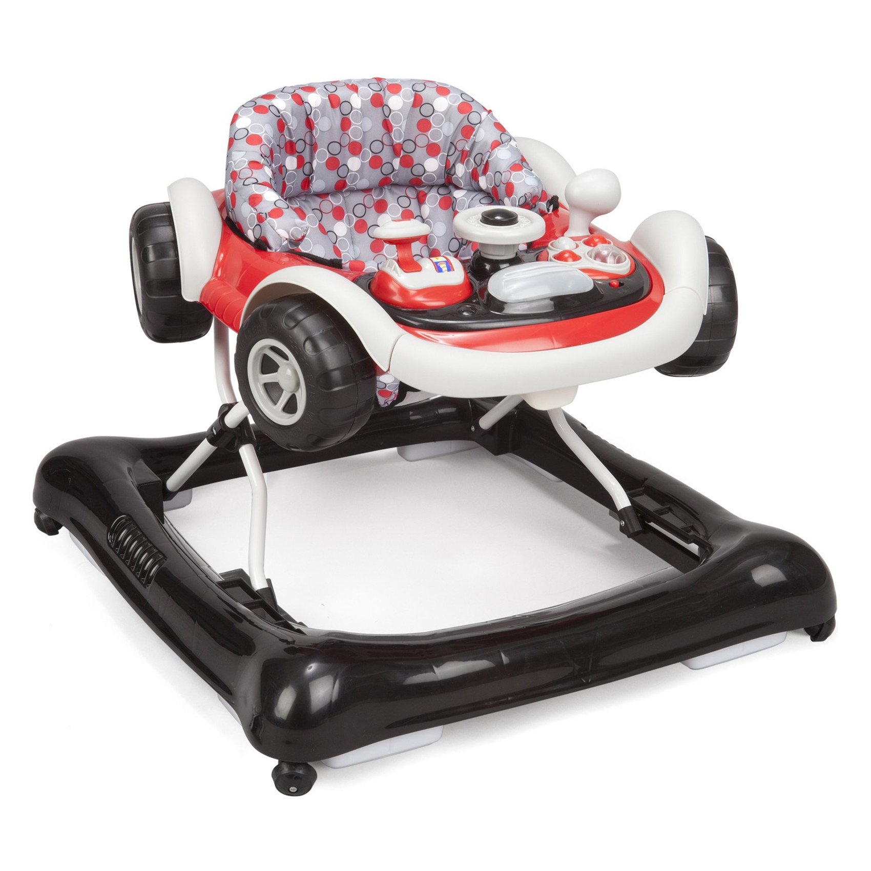 Delta Children Lil Drive Play Car Style Rolling Baby Bouncer Walker, Brody Grey by Delta Children