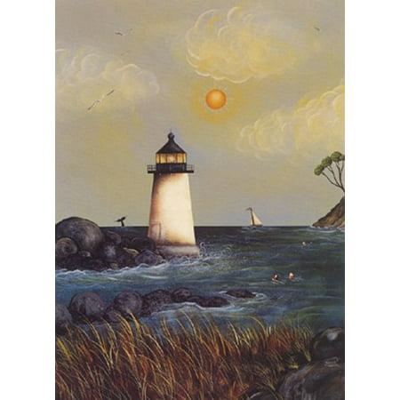 Coastal Harbor Light by Jessica Fries 7x5 (card) Art Poster (Coastal Harbor Light)