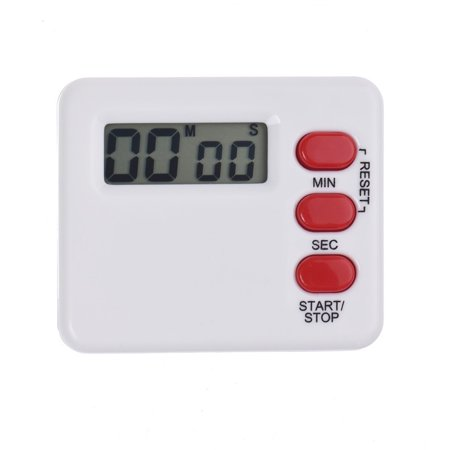 Countdown Timer Clock (Kitchen Clock Timer 99 Minute Digital LCD Sport Countdown Calculator WH )