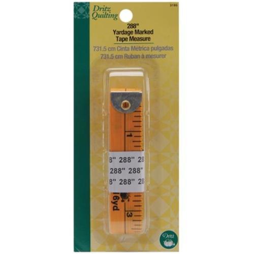 Dritz 3195 Dritz Quilting Yardage Marked Tape Measure-288 inch Yellow