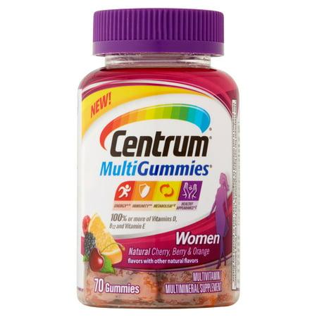 Centrum MultiGummies multivitamines / Supplément Femmes 70 Count