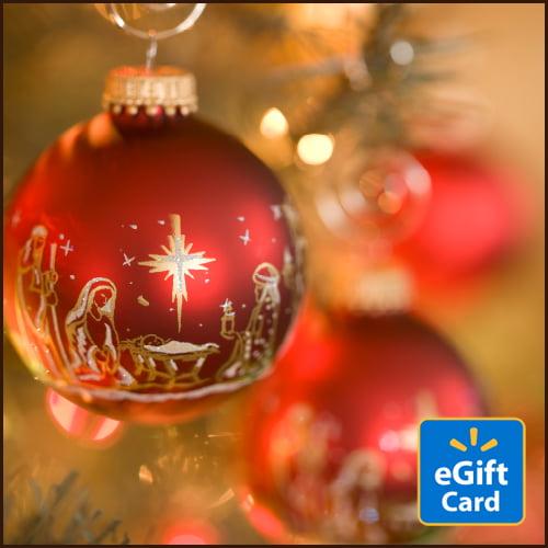 Red Nativity Walmart eGift Card