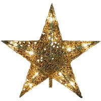 """Kurt Adler 10-Light 9"""" Gold Wire Treetop"""