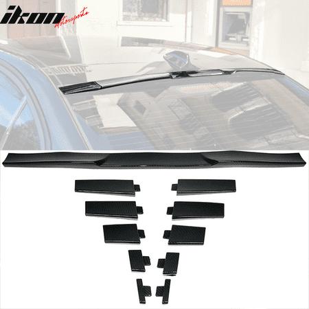 Universal Fitment Top Roof Spoiler Wing Adjustable Carbon Fiber Look