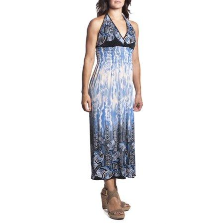 aae2aac3ff2 Ace Fashion - 2 Women s Tie-Neck Halter Maxi Dress Full-Length ...