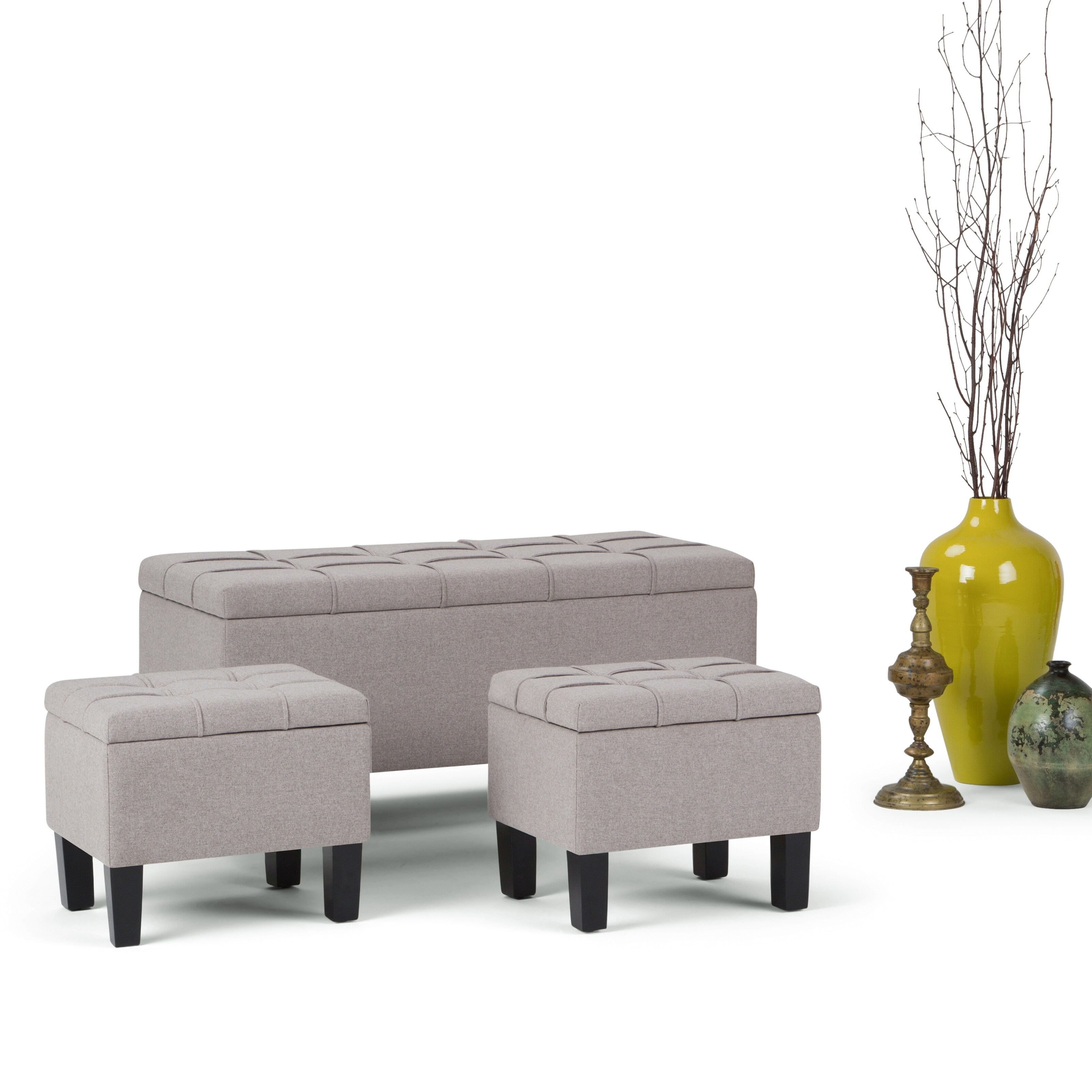 Groovy Wyndenhall Lancaster 3 Piece Storage Ottoman Set Set Of 3 Gmtry Best Dining Table And Chair Ideas Images Gmtryco