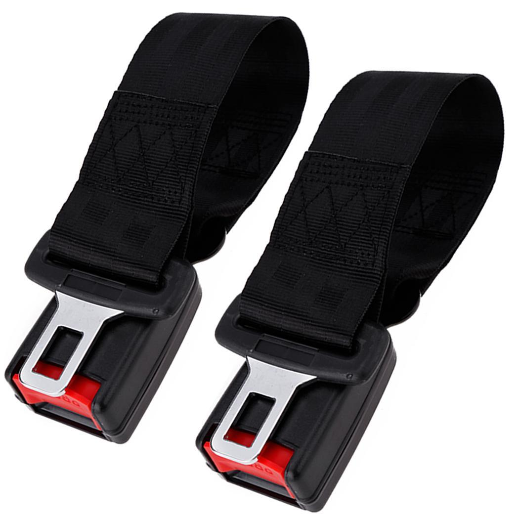 2pcs Universal Black Car Seat Belt Lap Belt Two Point Adjustable Safety