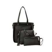 3 Pcs Women Lady PU Leather Handbag Shoulder Bag Tote Purse Messenger Bag
