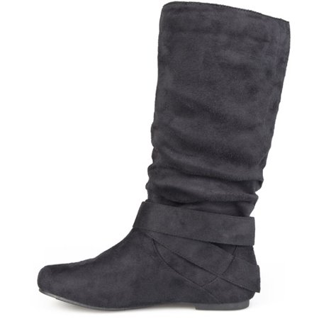 Women's Slouchy Side Accent Buckle Boots